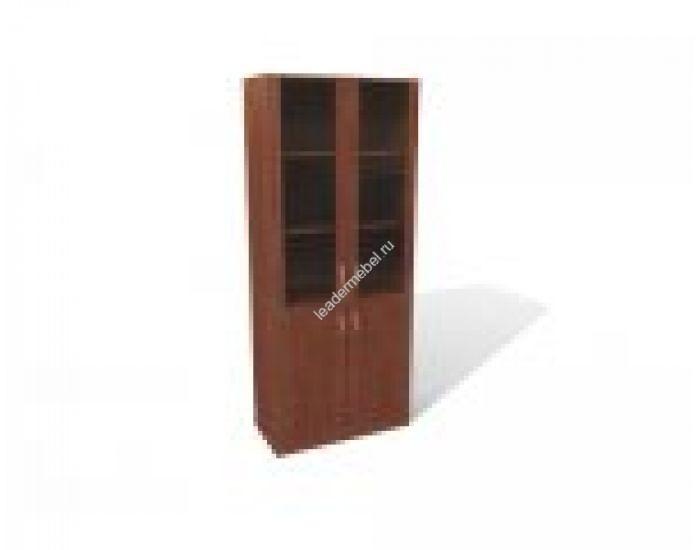 Шкаф книжный, со стеклом в рамке мдф (без топа).